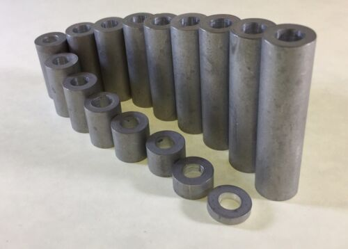 """5 Aluminum 3//8/"""" Bolt  Spacers 5//8 OD X 3//8 ID  X  1//2"""" long made in the USA"""