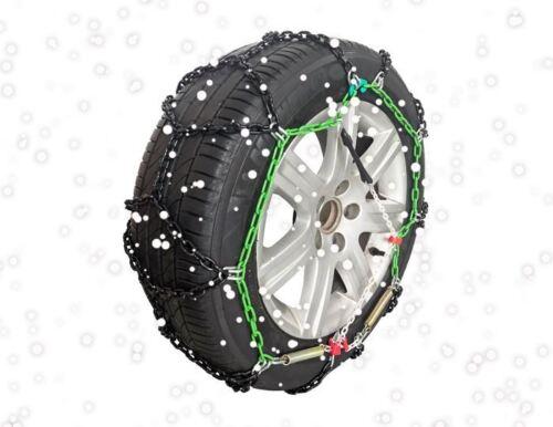 """Green Valley TXR9 Invierno 9mm CADENAS PARA LA NIEVE-Coche Neumático De 17/"""" ruedas 225//45-17"""