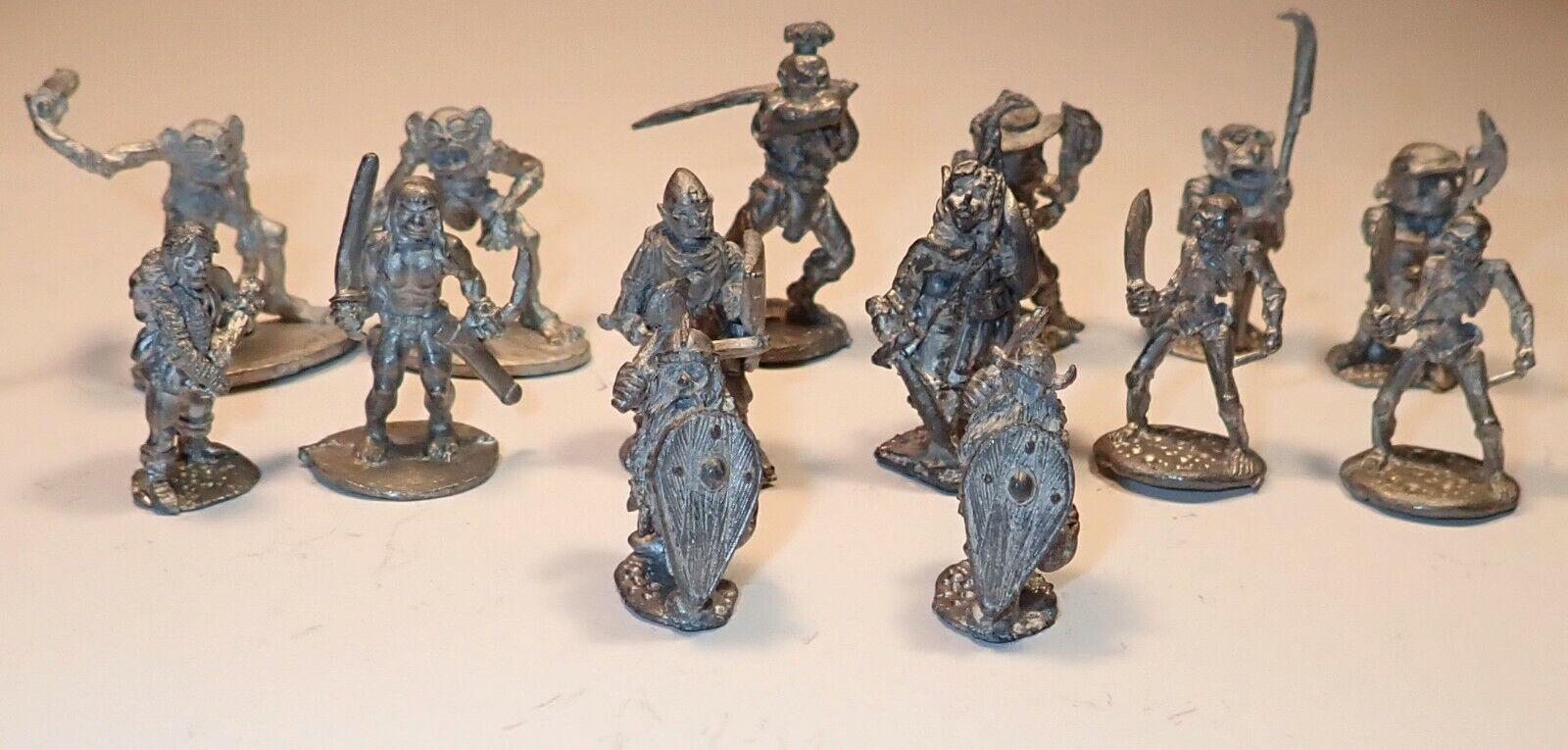 Vintage 1980s metal fantasy miniatures (ral partha, others) (unpainted, loose)