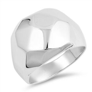 Large Halo Ring New .925 Sterling Silver Band