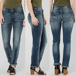 Buckle-BKE-Stella-Mid-Rise-Straight-Stretch-Jeans-24-X-30
