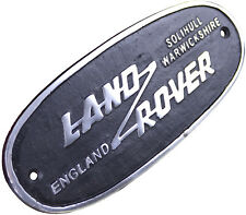 Land Rover Small Aluminium Sign Plaque