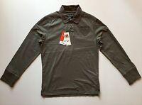 Celio Men's Long Sleeve Polo Shirt Army Green Color Size Medium M