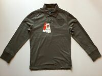 Celio Men's Long Sleeve Polo Shirt Army Green Color Size Medium M