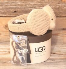 UGG Australia Great Jones Cardy Sheepskin Earmuff Camel Phone Speaker Headphones