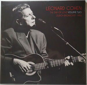 Leonard Cohen End Of Love Volume Two Zurich Broadcast 1993 Double LP Vinyl