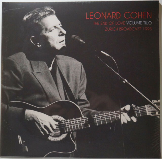 Leonard Cohen - End of Love Vol. 2 Zurich Broadcast 1993 2LP NEU/SEALED vinyl