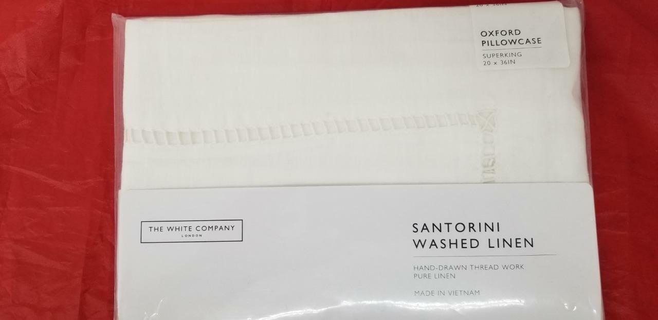 The White Company 100% Linen Santorini Wash Linen Oxford Pillow Case