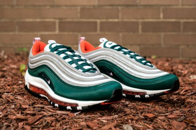finest selection be1f7 bb903 Nike Air Max 97 Hurricanes Mens 921826-300 Rainforest Running Shoes Size 10