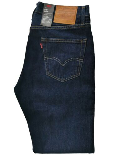 W 33 dark blue Levi/'s 511 Men/'s Slim Fit zip-fly Jeans L 32