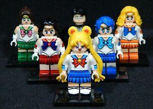 X-Men Set of 6 Minifigs Cyclops Angel Beast Iceman Building Toys Free USA Ship