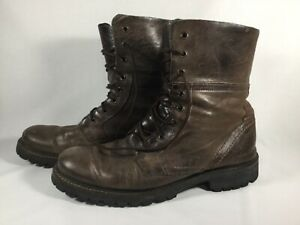 05c6032a8a8 Details about Steve Madden Vibram men's brown leather lace-up boots made in  Portugal size 9