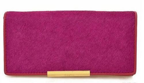 Desighner Pony Large High Quality Ladies Genuine Leather Purse Wallet Gift Box