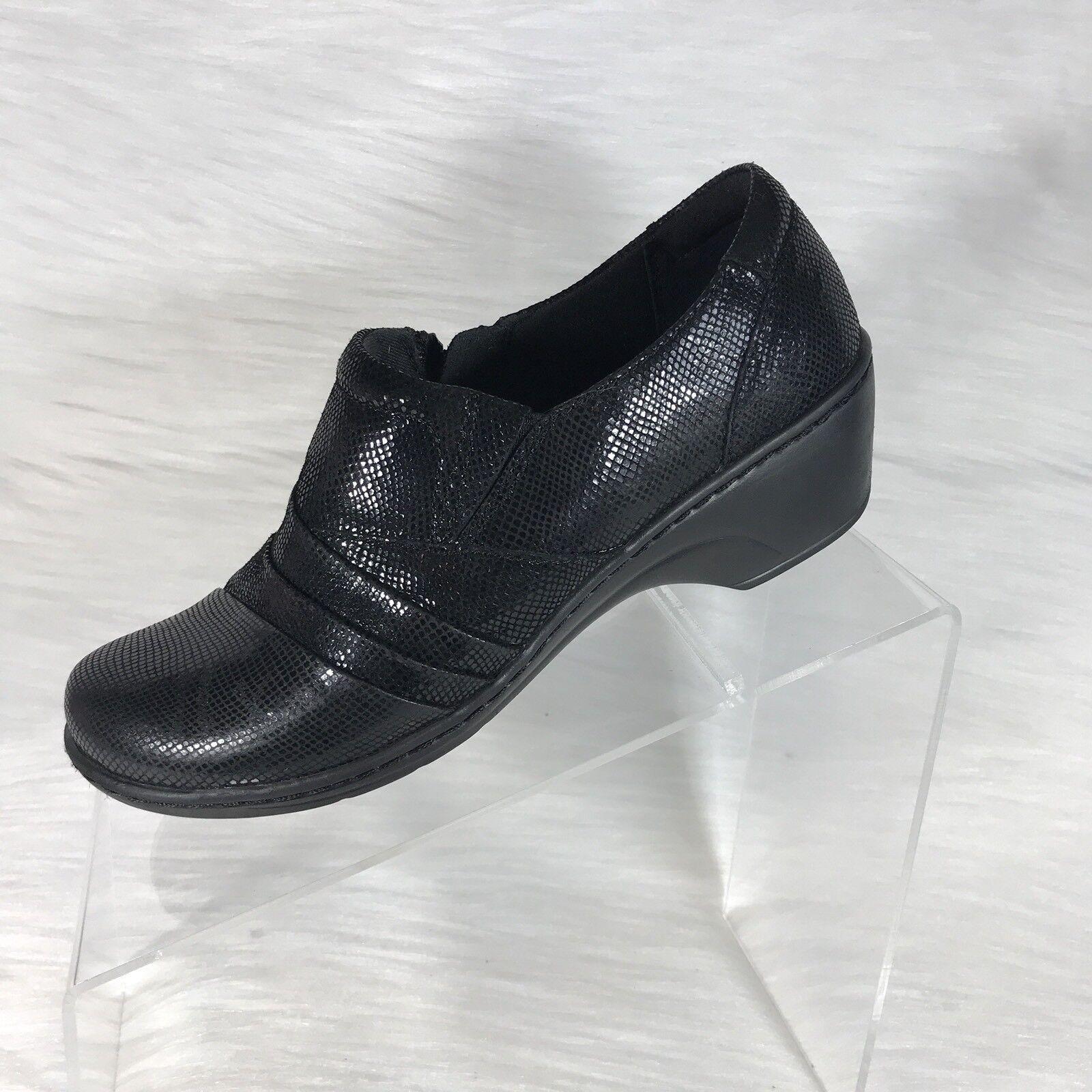 Clarks collection Mocassins En Cuir Noir Femmes Chaussures Taille 6.5 M