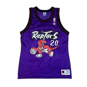 Vtg Rare NBA Toronto Raptors  20 Damon Stoudamire Champion Jersey ... 13a3ee020