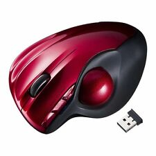 New Sanwa Wireless Laser Trackball Red USB Connector Mouse MA-WTB43R Japan