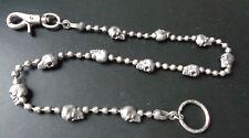 Schlüsselkette Portemonnaie - Geldbörse Hosenkette Metallkette Skull /Rockabilly