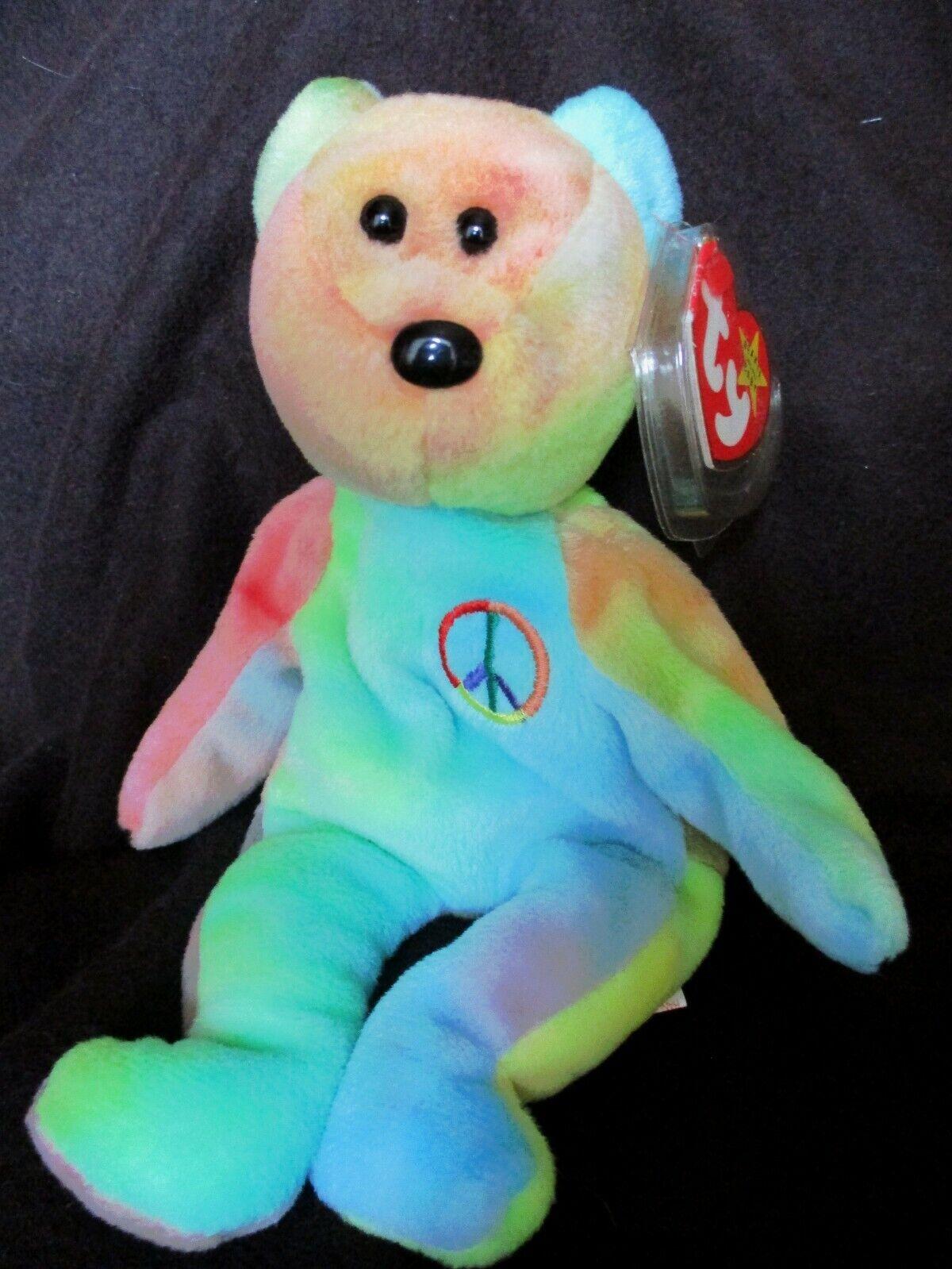 Peace Bear Beanie bebis PVC Pellets