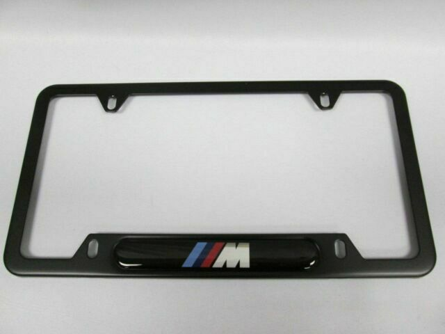 Free Screws B5 2 x BMW Black Matte Finish Colorful Number Plate Holders