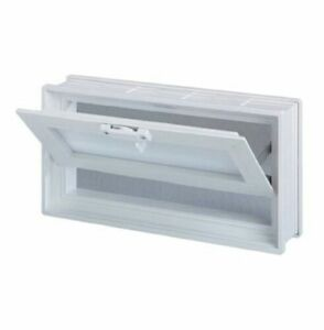 18x6x3 Vinyl, Thermal Pane Hopper Vent for Glass Block