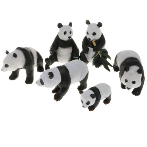 Realistic Wild Animal Model Figure Kids Preschool Toy Gift Panda Family