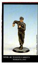 FRIULMODELLISMO WWII-02 - TENENTE CARRISTA TEDESCO c. 1943 - 54mm WHITE METAL