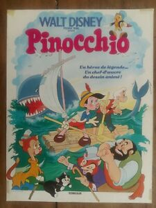 Affiche-PINOCCHIO-Dessin-Anime-WALT-DISNEY-40x60cm