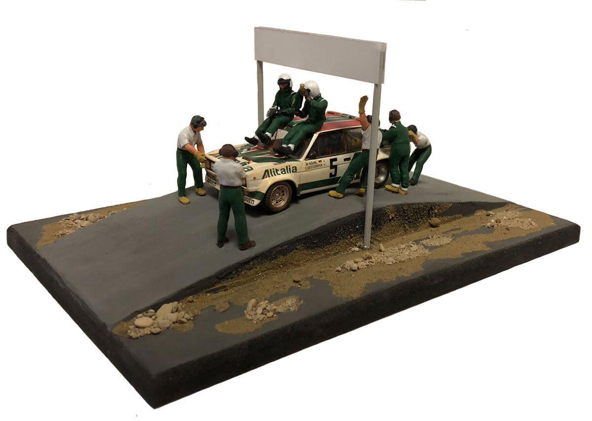 NCB005 FIAT 131 ABARTH Winner Acropolis 1978 W ROHRL-Diorama Set 1 43 Scale