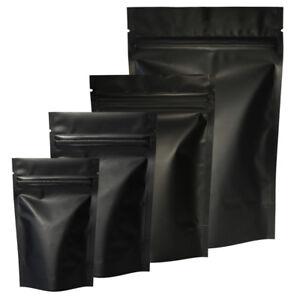 Image Is Loading Matte Aluminum Black Pouch Zipper Food Grade Foil