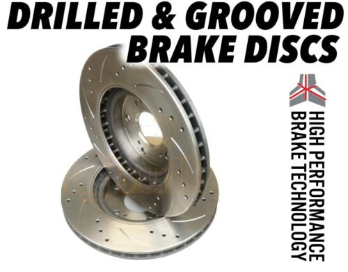 Volvo XC90 2002-2012 308mm DRILLED GROOVED BRAKE DISCS Rear