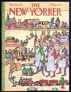 1987-Santa-039-s-Workshop-Elves-Toy-Train-by-Wm-Steig-Dec-14-New-Yorker-COVER-ONLY