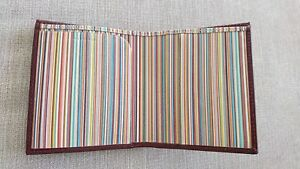 Herren-accessoires Paul Smith Signature Multi Stripe Leather Phone Pouch Business Card Holder Bnwt