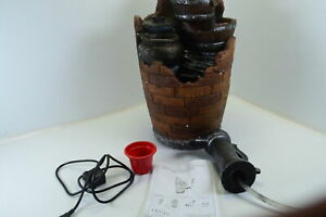 Glenville Water Pump Cascading Fountain w Durable Poly Resin Fiber Glass