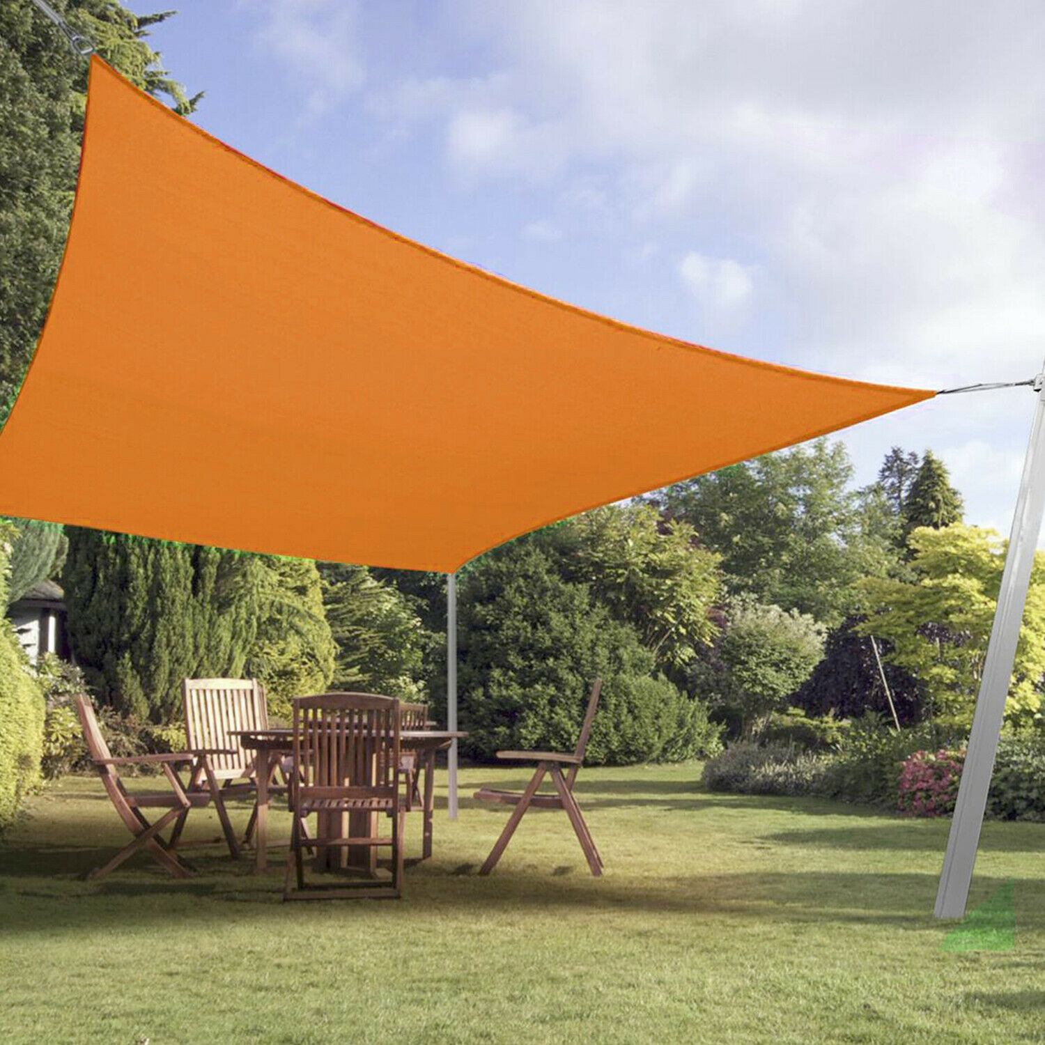 Details About Standard Orange Curve Sun Shade Sail Home Garden Pool Patio  Canopy
