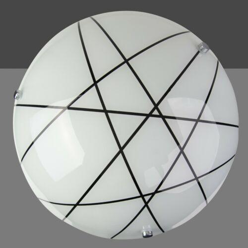 Crosbie Glass Ceiling Uplighter Pendant Shade White//Black//Chrome
