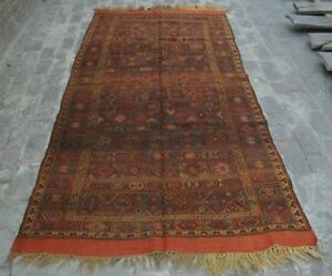 Capable R133 Stunning Afghan Antique Sumak Best Kilim/ Oriental Kilim/ Tribal 4'6 X 8'11 Antiques