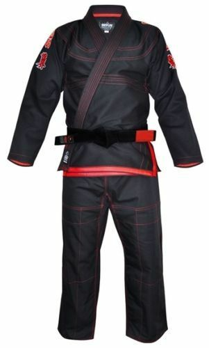 GRATIS Fuji SPORT Sekai BJJ Gi NERO Ju Jitsu Gi kimono uniforme  8803