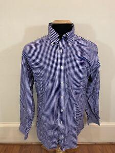 Brooks-Brothers-Purple-Gingham-Check-Button-Down-Shirt-Slim-Fit-Medium