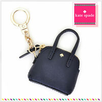 Kate Spade Maise Coin Pouch Charm Key Black Gold Trim In Pouch Free Ship