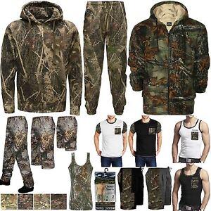 mieux aimé nouvelles images de éclatant Détails sur Homme camouflage survêtement pantalon sweat à capuche sweat  shirts tops jungle combat short- afficher le titre d'origine