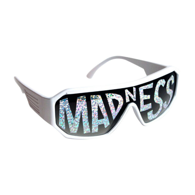 aaa95132a504 Macho Man White Madness Sunglasses Randy Savage Costume Wrestler Wrestling  Party