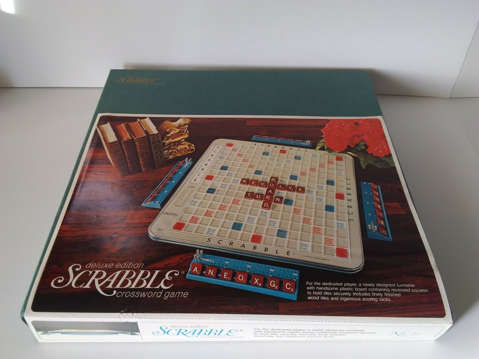 Jahrgang 1972 deluxe edition ein brettspiel scrabble - drehscheibe zu 100% abgeschlossen