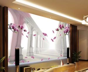 3D Squid White Corridor Wall Paper Wall Print Decal Wall AJ WALLPAPER CA