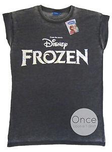 Adult Ladies Disney Frozen Logo Foil Printed T Shirt From Primark Ebay