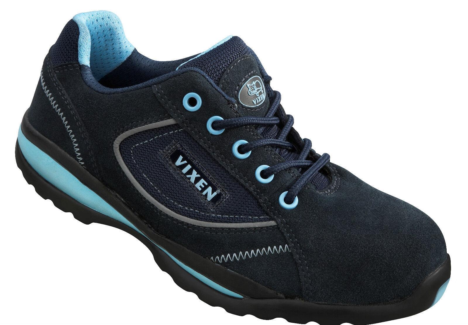Vixen VX700 Pearl S1P Ladies Dark bleu ESD Composite Toe Cap Safety Trainers PPE