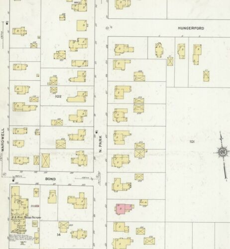 Adams New York~Sanborn Map©~sheets~25 maps in color~1884 to 1912