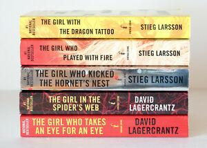 Details About Lot Of 5 1 5 Millennium Trilogy Series Set Of Paperback Books Stieg Larsson
