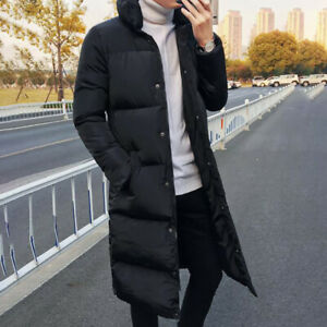 Men S Long Sleeve Puffer Overcoat Winter Warm Outwear Coat