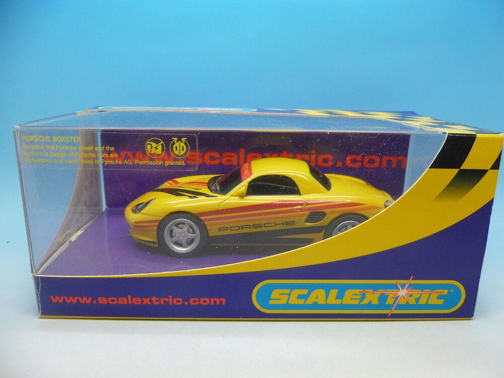 Scalextric C2479 Porsche Boxster Yellow 04, mint unused