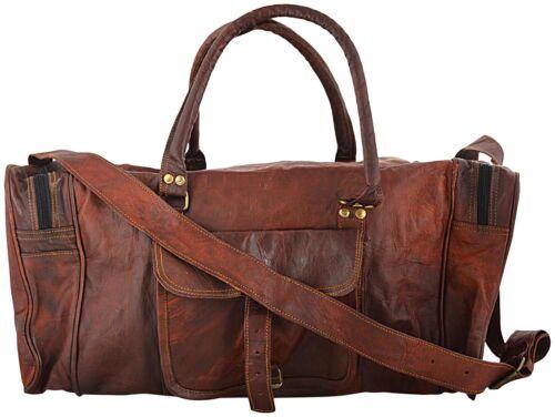 Echt Gepäck Reisetasche Messenger Braun Leder Vintage Hide Ziege q4wOvxBg
